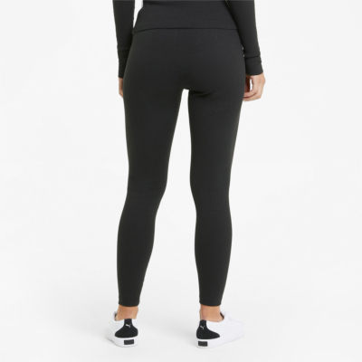 PUMA Classics High Rise Rib Women Leggings - Black