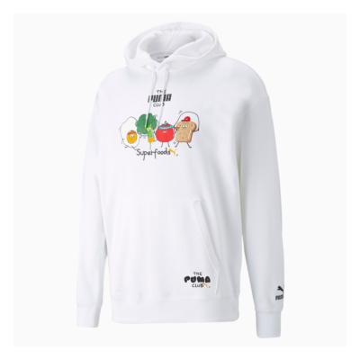 PUMA Club Graphic Hoodie Unisex - White (533110-02)