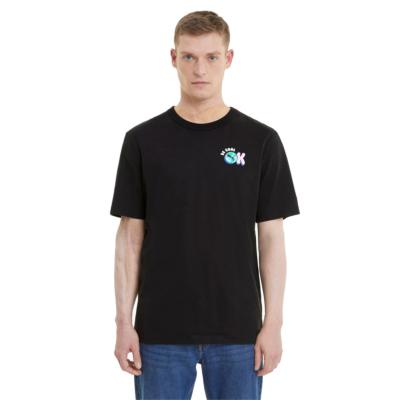 PUMA Downtown Μπλουζάκι Ανδρικό Μαύρο (530899-01)