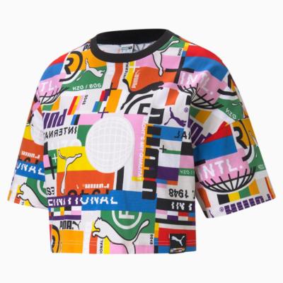 PUMA International Printed Γυναικείο Μπλουζάκι Πολύχρωμο (530740-02)