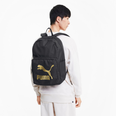 Puma Originals Backpack - Black/ Gold