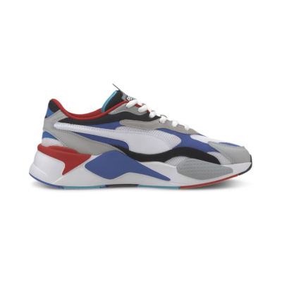 PUMA RS-X³ Puzzle Αθλήτικα Παπούτσια - White/ Dazzling Blue (371570-05)