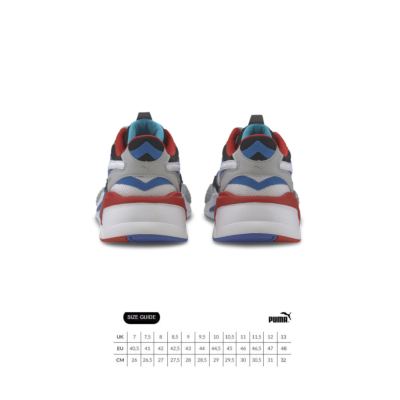 PUMA RS-X³ Puzzle Sneakers - White/ Blue (size guide)
