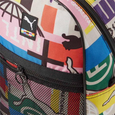Puma Street Backpack International Printed - Black/ Multi (detail)