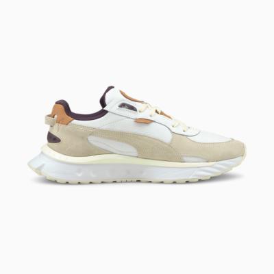 PUMA Wild Rider Παπούτσια Ανδρικά Αθλητικά Δερμάτινα - Λευκό/ Γκρι (381901-01)