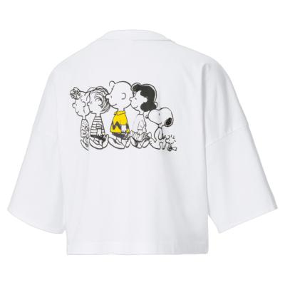 PUMA X Peanuts Μπλουζάκι Γυναικείο Λευκό (531158-02)