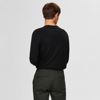 SELECTED Berg Knitted Cotton Jumper (16074682-Black)