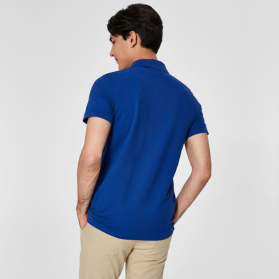 SELECTED Embroidery Men Polo in Royal Blue (16049517)