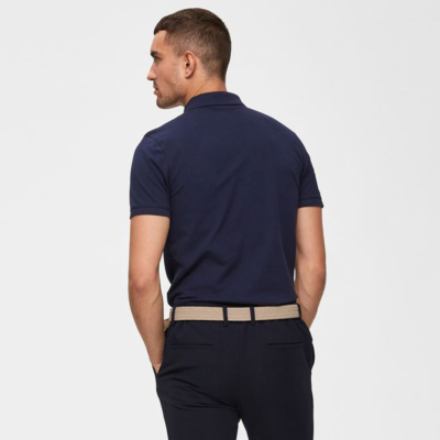 SELECTED Embroidery Men Polo (16049517-Peacoat)
