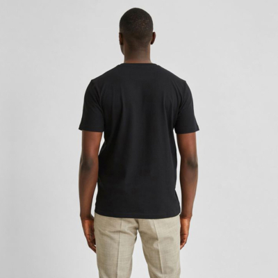 SELECTED Henzo Pocket Logo Men T Shirt (16078843-Black)