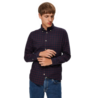 SELECTED Homme Slim Flannel Shirt - Port Royale (16074464)