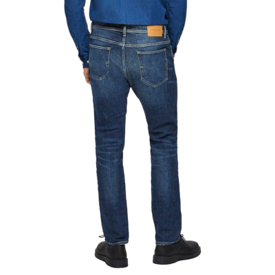 SELECTED Leon Men Jeans Slim Tapered - Medium Blue (16075446)