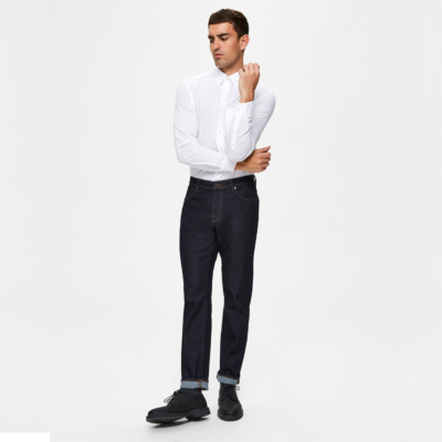 SELECTED Men Leon Jeans Slim Tapered - Rinse