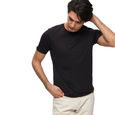 SELECTED Ανδρικο Μονόχρωμο Μπλουζάκι Μαυρο (16057141-BLK)