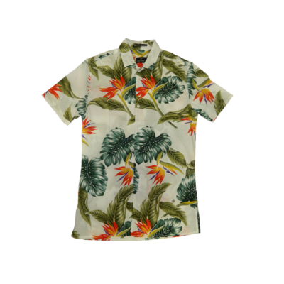 Smithy's Floral Men Shirt - White