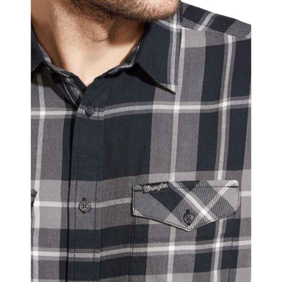 WRANGLER Two Pocket Flap Men Shirt - Black (W5917NO01)