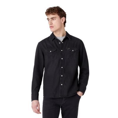 WRANGLER 27MW Denim Shirt - Black Washed (W5MS4O236)