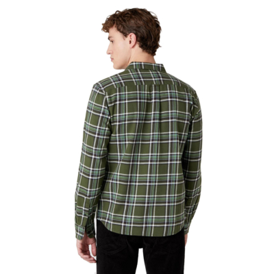 WRANGLER Two Pocket Flap Flannel Men Shirt - Rifle Green (W5A53WG13)