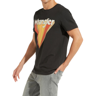 WRANGLER Ανδρικό Μπλουζάκι Μαυρο (W7C12FKV6)