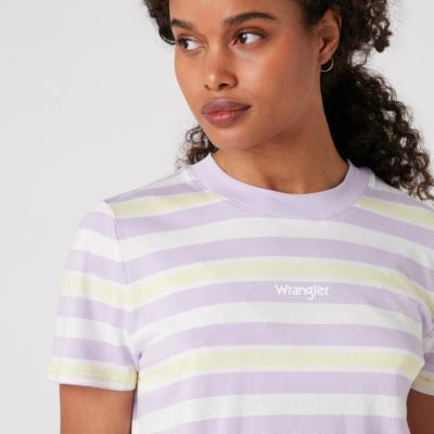WRANGLER Stripe Women Tee - Pastel Violet (W7N9GHP26)