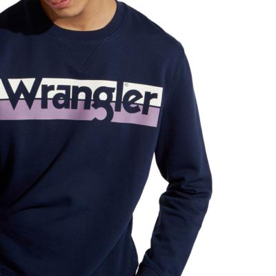WRANGLER Φουτερ Ανδρικό Λαιμόκοψη Μπλε (W6532HYW4)