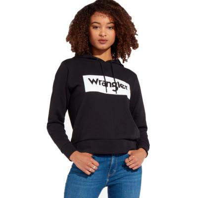 WRANGLER Logo Women Hoodie - Black (W6N4HA100)