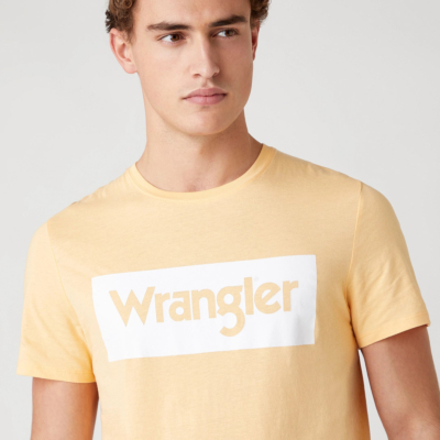 WRANGLER Μπλουζάκι Λογότυπο Ανδρικό - Lovely Mango (W742FKA11)