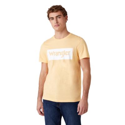 WRANGLER Logo Men Tee - Lovely Mango (W742FKA11)