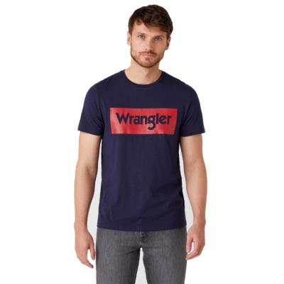 WRANGLER Logo Men Tee - Navy (W742FK114)