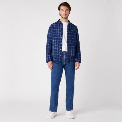 WRANGLER Pocket Shirt Men in Limoges Blue (W5A11KX50)