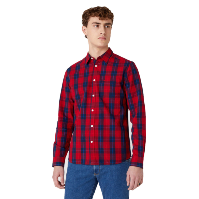 WRANGLER One Pocket Men Shirt - Mars Red (W5A14MX3A)