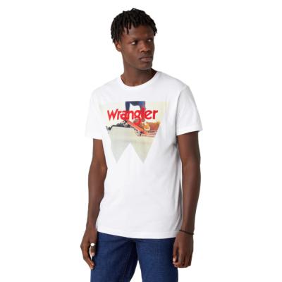 WRANGLER Photo W Men Tee - Real White (W7G7D3XW1)