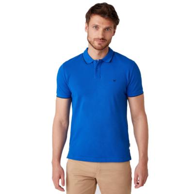 WRANGLER Pique Polo Tee - Blue (W7D5K4X05)