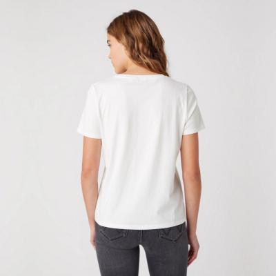 WRANGLER Desert Women T-Shirt in Worn In White (W7N4GHW04)