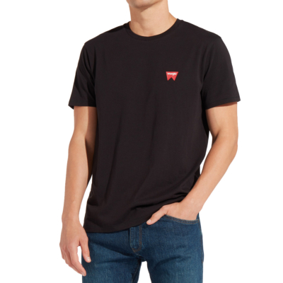 WRANGLER Sign Off Men Tee - Black (W7C0-7D-301)