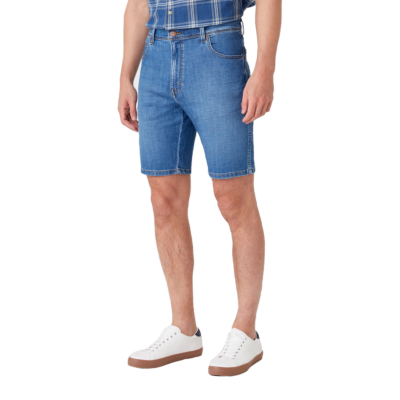 WRANGLER Texas Denim Shorts - Lite Blue (W11CQ187W)