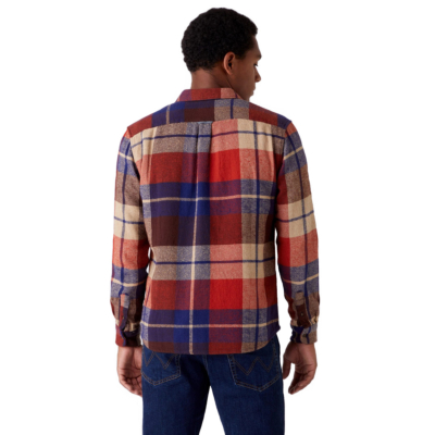 WRANGLER Two Pocket Flap Shirt - Patriot Blue (W5AF8QX5H)