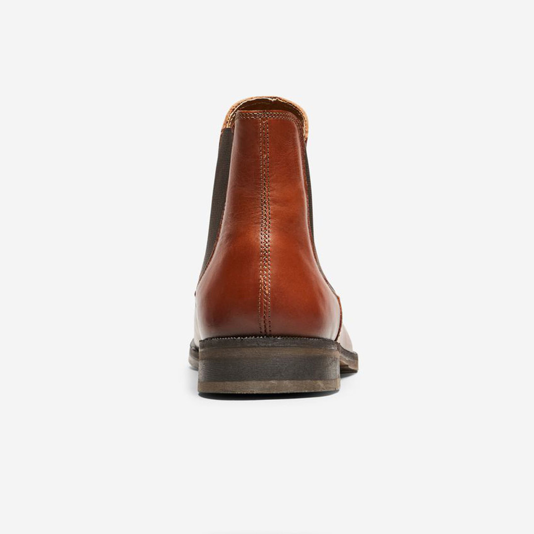 SELECTED Louis Leather Chelsea Boots - Cognac (16070195)