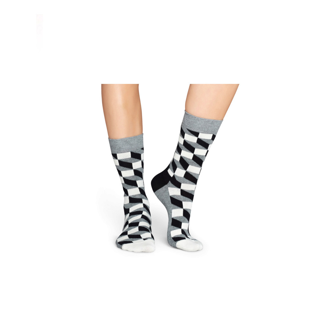 HAPPY SOCKS Filled Optic Κάλτσες Unisex - Black/ White