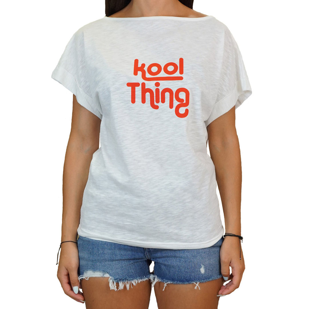 KOOL THING x HOLY STUFF Bat Cropped Top - Off White (KT-1803BWH)