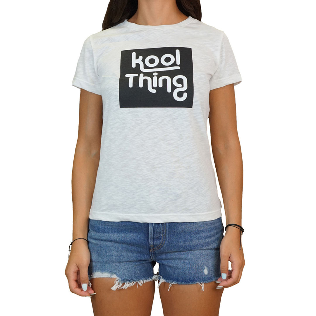 KOOL THING x HOLY STUFF Women T-Shirt - Off White (KT-1803WH)