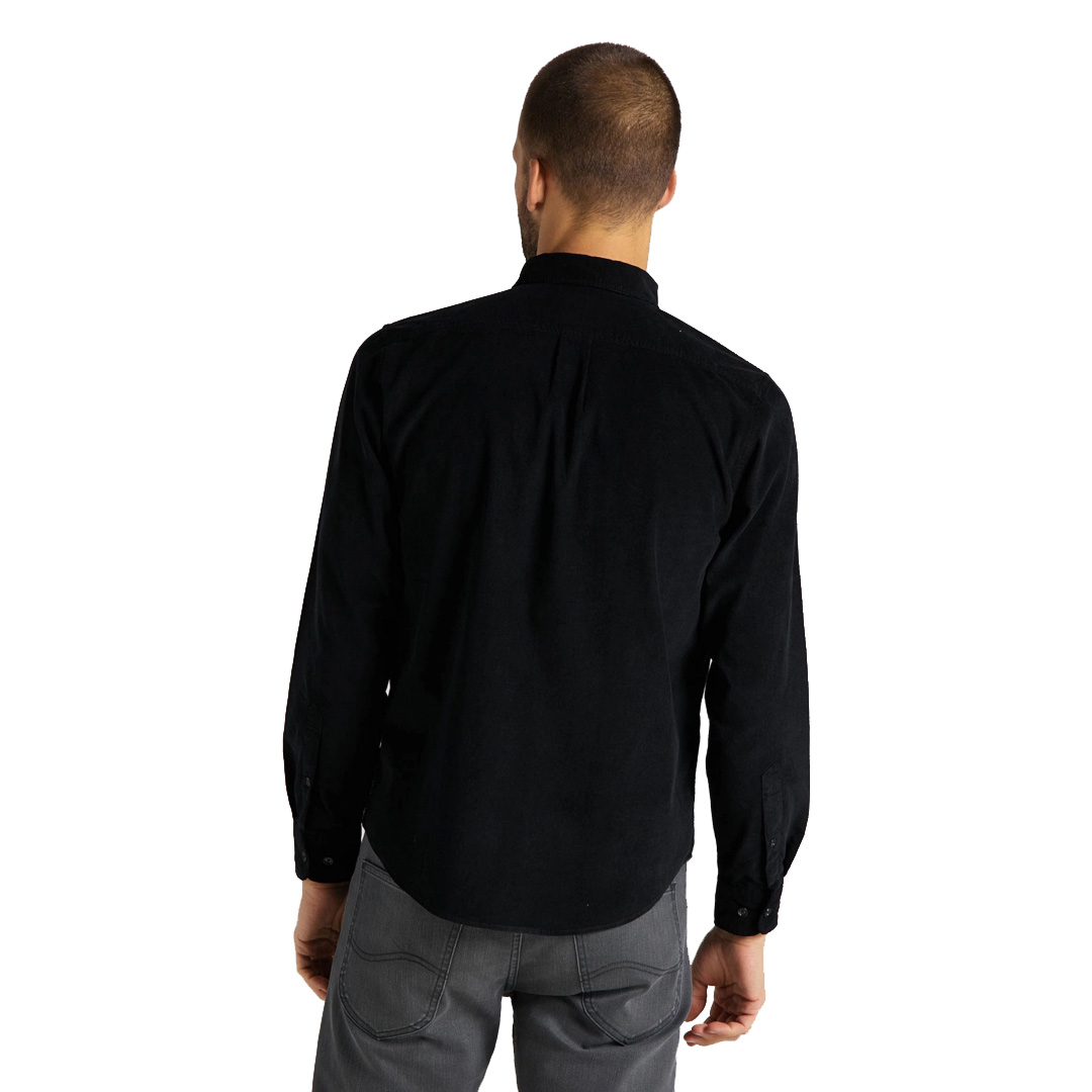 LEE Button Down Cord Men Shirt - Black (L880-MR-01)