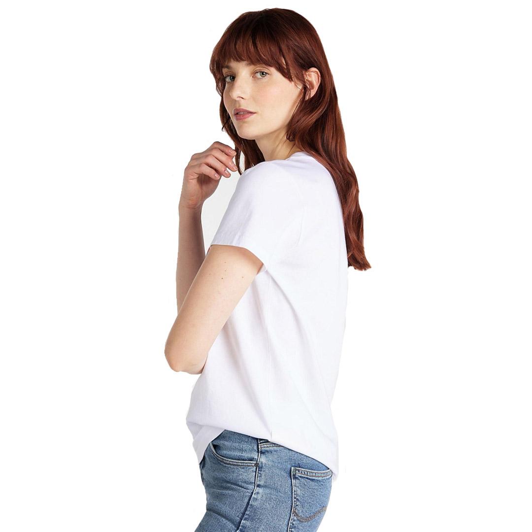 LEE Γυναικείο Μπλουζάκι Κοντομάνικο Λευκό (L41L-ET-LJ)