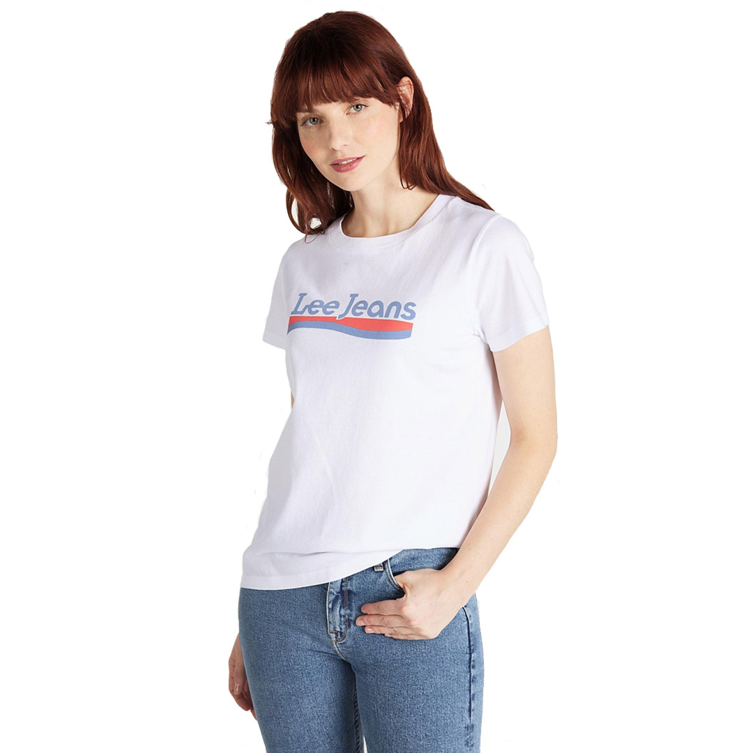 LEE Crew Neck Women Tee - Bright White (L41L-ET-LJ)