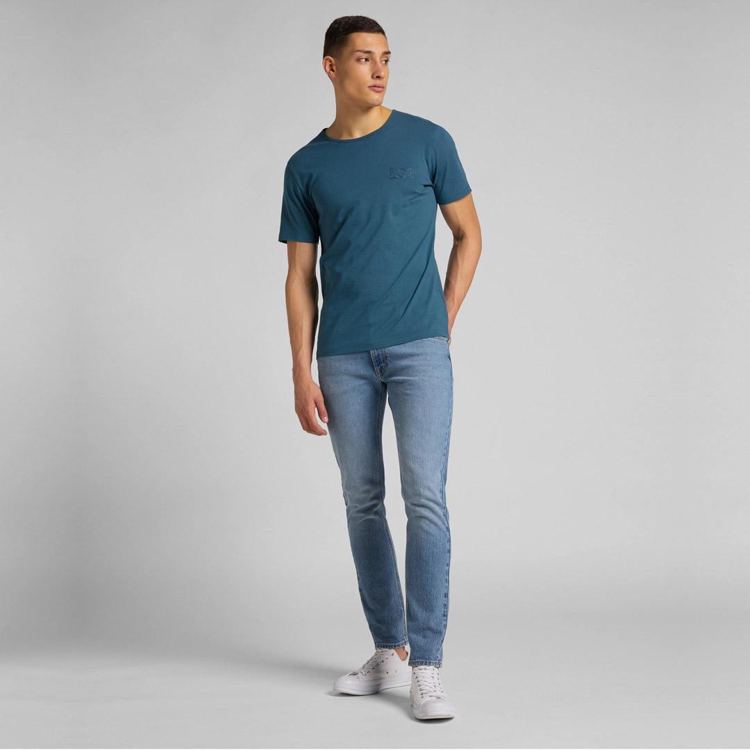 LEE Μπλουζάκι Ανδρικό Κοντό Μανίκι με Κεντημα (L61ZFEQO)