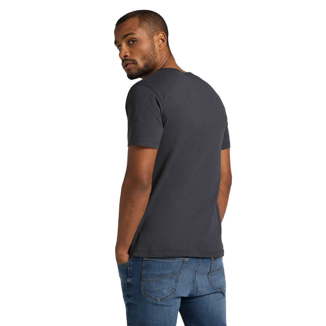 LEE Embro Logo Tee in Washed Black (L61ZFEON)