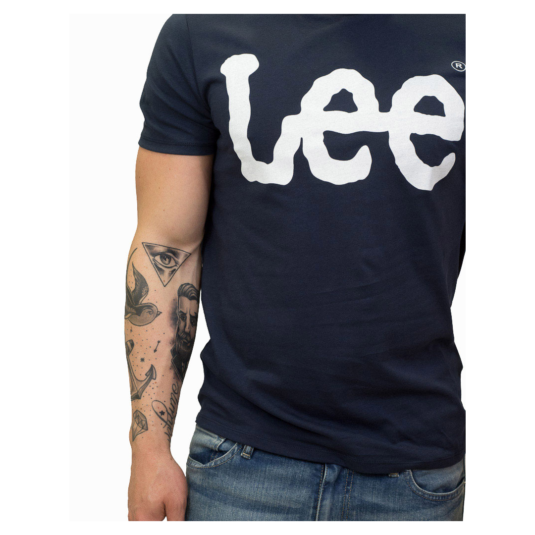 LEE Logo Men T-Shirt - Navy Drop (L62A-AI-EE)