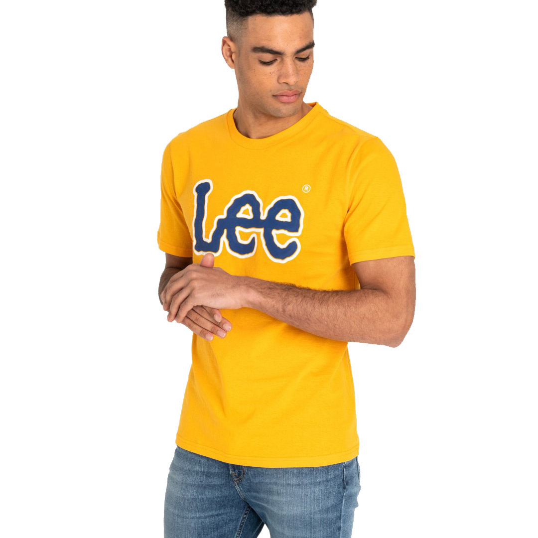 LEE Logo Men T-Shirt - Radiant Yellow (front)