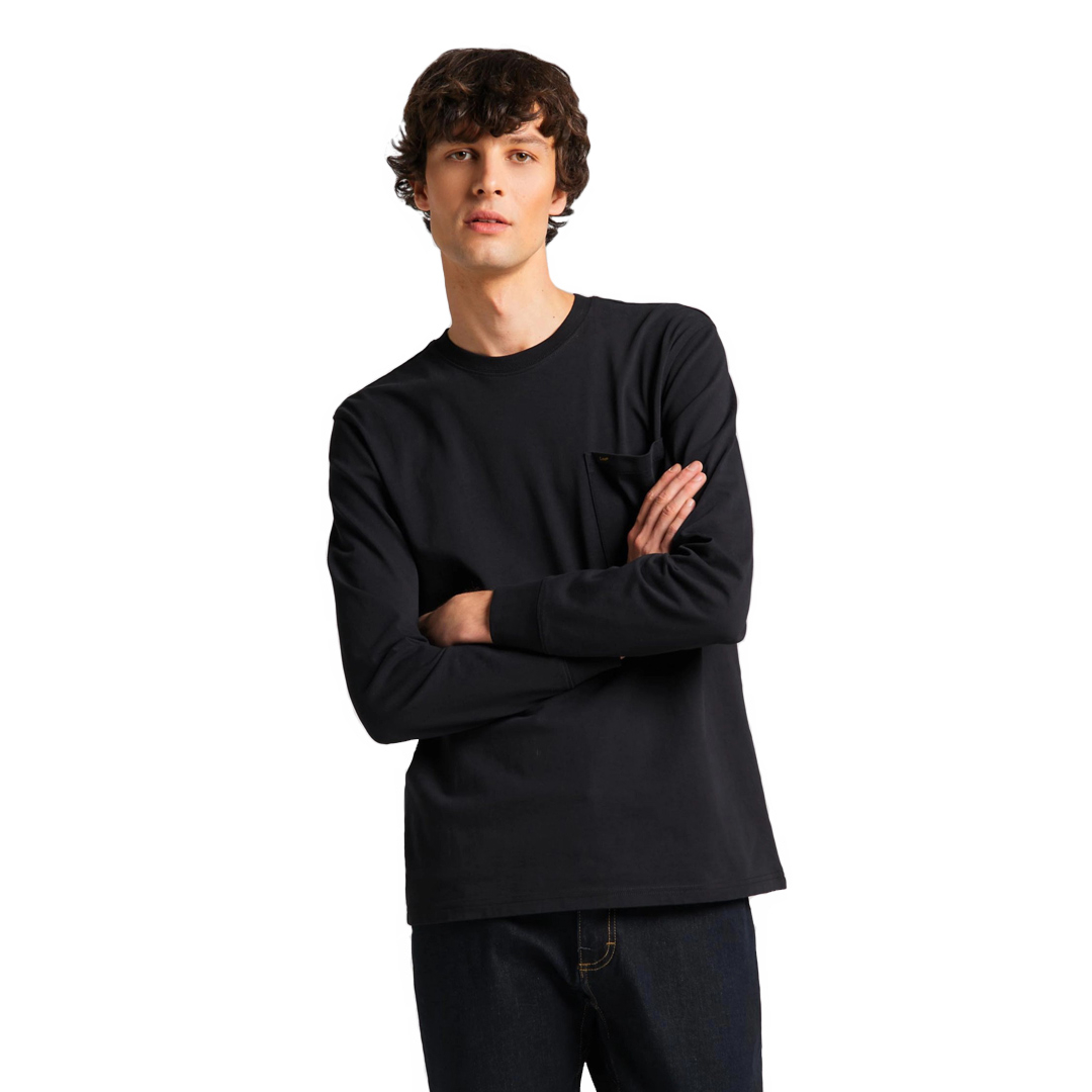 LEE LS Pocket Men Tee - Black (L64Q-SW-01)
