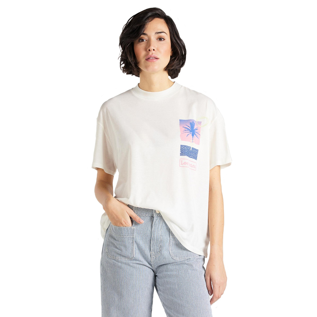 LEE Oversized Women Tee - Ecru (L41S-BY-NQ)